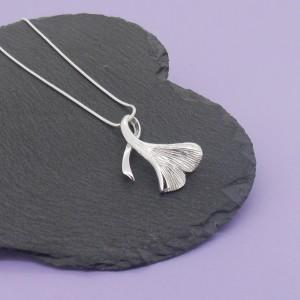 Ginko Leaf Twist Pendant