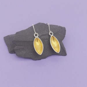 Silver Pod Earrings – 18ct Gold Plated