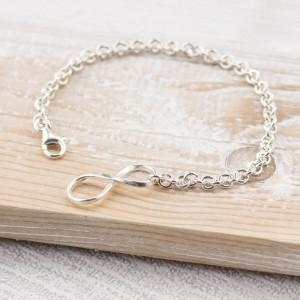 Silver Infinity Lock Bracelet