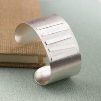 Handmade Wide Sterling Silver Cuff