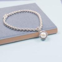 Silver Pearl Cupcake Bracelet