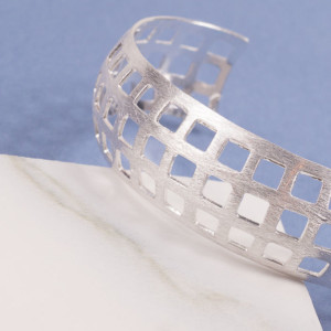 Large Silver Cinematic Cuff