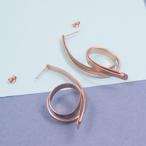 Silver Coil Earrings