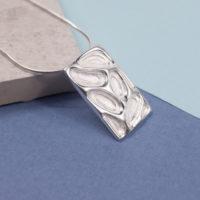 Silver Fossil Pendant