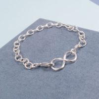 Infinity Lock Bracelet Sterling Silver
