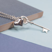 Silver Key To Your Heart Necklace