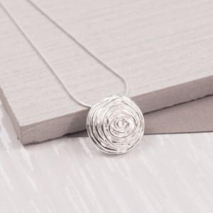 Silver Rosebud Pendant