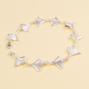 Silver Ginko Leaf Bracelet