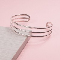 Triple Bar Cuff Bangle Sterling Silver