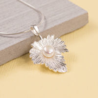 Maple Leaf Pearl Pendant