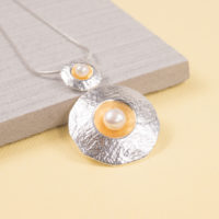 Silver Amulet Duo Pendant