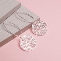 Silver Hessian Drop Earrings