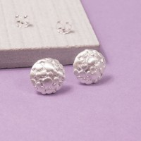 Silver Aero Moon Stud Earrings