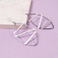 Silver Urbanite Drop Earrings