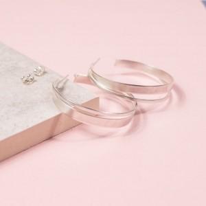 Silver Handmade Hoop Stud Earring