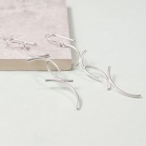 Silver Radian Drop Earrings