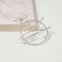 Silver Orbital Pendant