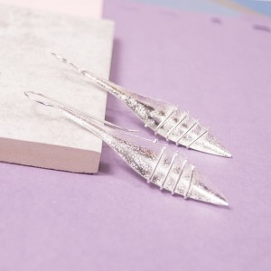 Silver Spearhead Drop Earrings