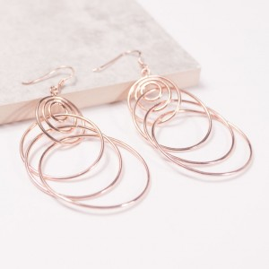 Silver Circulos Earrings