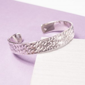Men's Silver Dappled Cuff