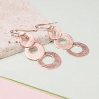 Silver Decreasing Circles Earrings