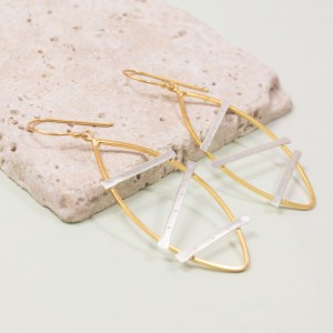 Silver Urbanite Drop Earrings