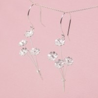 Silver Daisy Posy Earrings