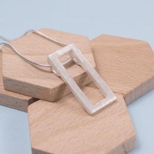 Silver Bloc Pendant