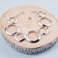 Silver Cerchio Bracelet