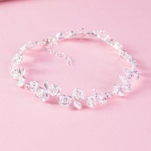 Silver Wild Rose Bracelet