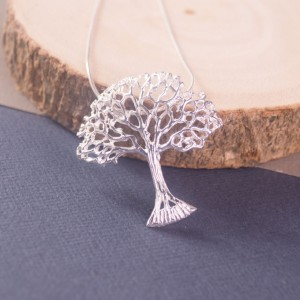Large Silver Tree Pendant