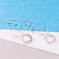 Silver Spiro Drop Earrings