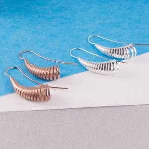 Silver Cone Longstem Earrings