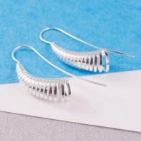 Silver Cone Longstem Earrings