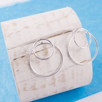 Silver Cyclic Earrings