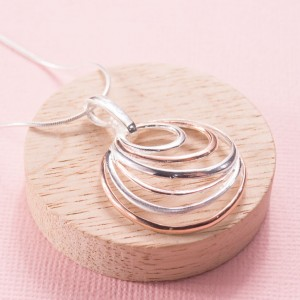 Silver Ripples Pendant