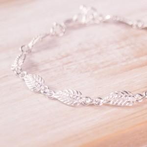 Silver Cordia Leaf Bracelet