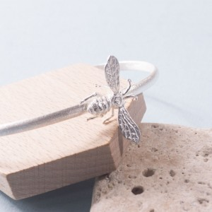 Silver Honey Bee Cuff