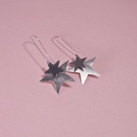 Silver Ara Star Earrings