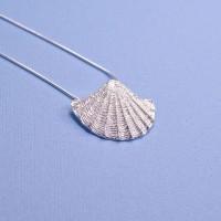 Silver Fan Shell Pendant