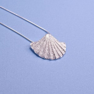 Silver Fan Shell Pendant