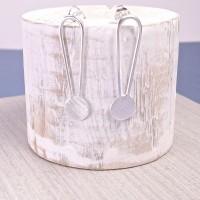 Silver Full Moon Earrings