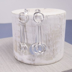 Silver Solaris Stud Earrings