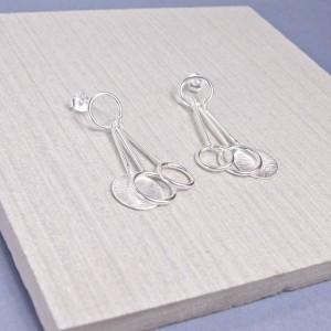 Silver Solaris Stud Earrings