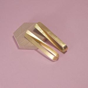 Silver Twill Twist Stud Earrings