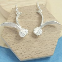 Silver Seedpod Earrings
