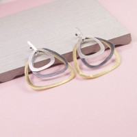 Tricolour Stud Earrings