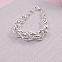 Silver Belcher Twist Bracelet