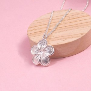 Silver Cherry Blossom Pendant