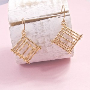 Silver Cleo Earrings – Rose Gold Plating